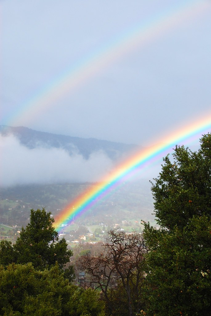 Double Rainbow - Tehachapi, CA