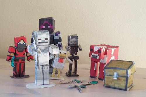 Minecraft paper models