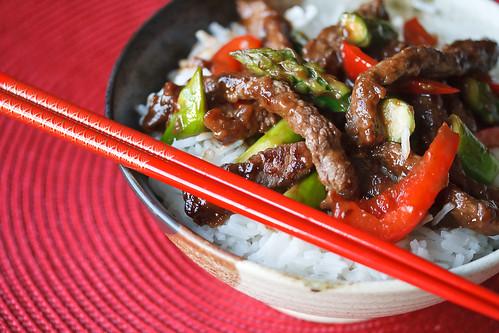 Asparagus and Beef Stir Fry