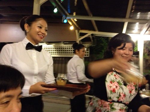 Jessica and Celine as Waiters