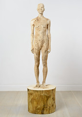 <strong>The Tainted - </strong> <br />Aron Demetz, Nord, 2012, Limewood, 60 cm x 60 cm x 220 cm