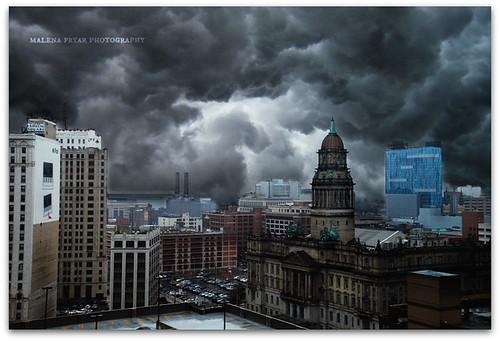 clouds spring nikon downtown michigan detroit viewfromthetop 313 motown 2013