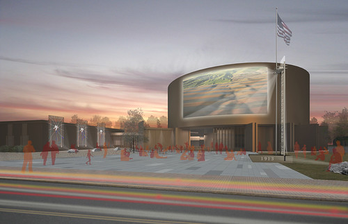 JW-Hart posted a photo:Reuse proposal for Richard Neutra's Cyclorama Building at Gettysburg, by CUBE design + research. www.CUBEdesignResearch.com, copyright.