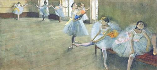 エドガー・ドガ「稽古場の踊り子たち」クラーク・コレクション (ポストカード) by Poran111