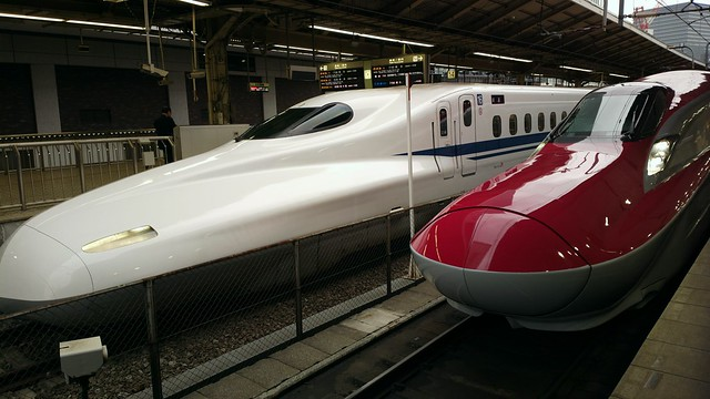 Shinkansen E6 and N700