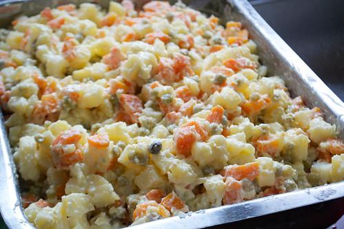 asado tio benicio peas potato carrot salad