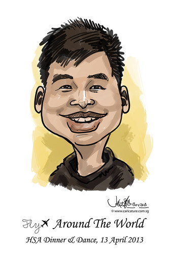 digital live caricature for HSA D&D 2013 - 4