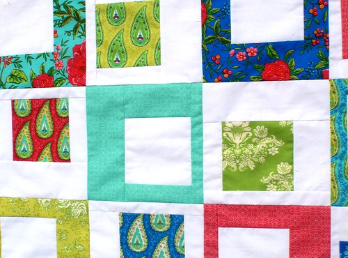 WIP - Summer House off centre squares quilt