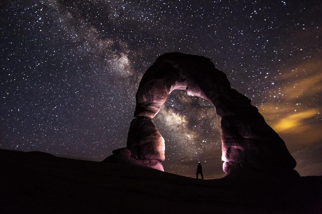 Self Portrait - Delicate Arch at Night [Explored 4-15-13]