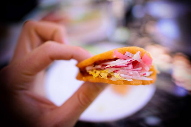 Dorados de Papa: crispy potato tacos with avocado tomatillo salsa ...