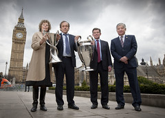 UEFA Champions League trophies official handover in London