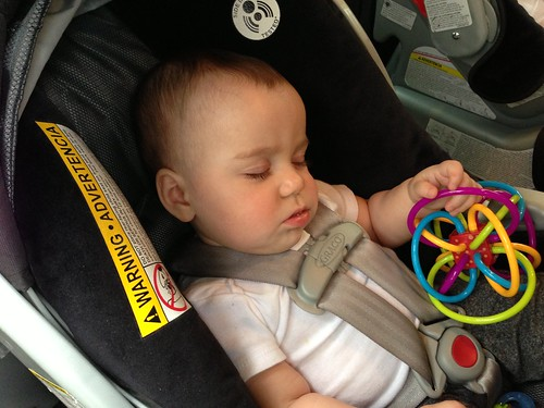 Elliott Asleep in Car