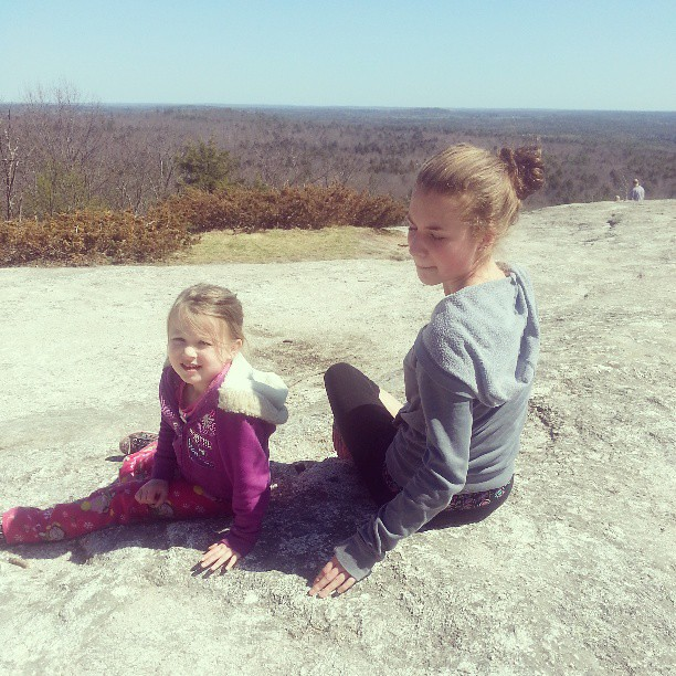 Girls' Hike (they were happier with the hike than the picture taking)