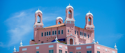 Spires of the Don Cesar Hotel in Pass-A-Grille Florida