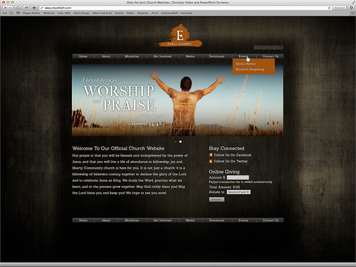 Website Design for www.sharefaith.com
