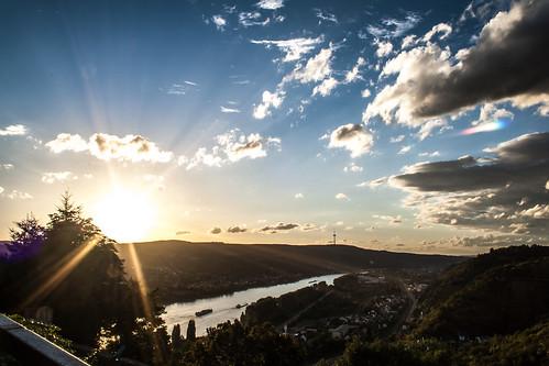 sunset landscape deutschland rheinlandpfalz marksburg braubach