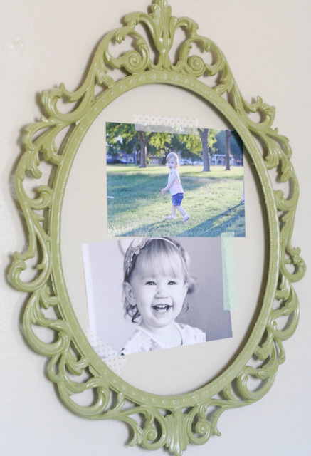 spray painted flea market frame