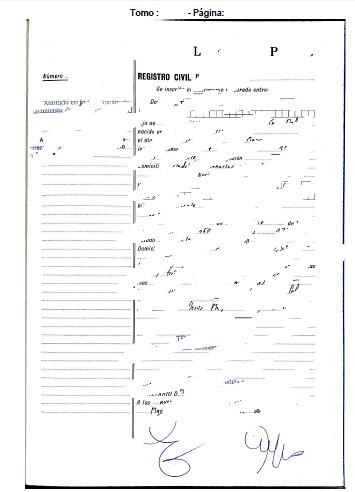 pdf generado con el certificado de matrimonio