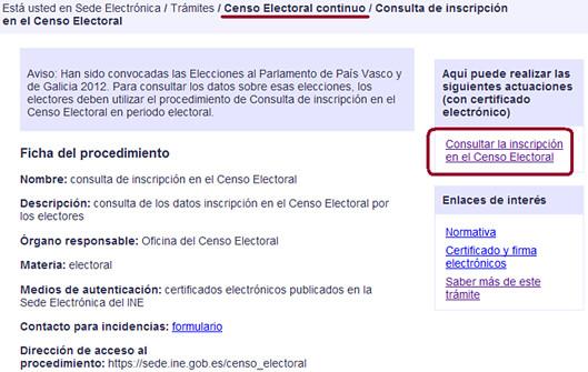 Acceso a la Consulta del Censo Electoral continuo