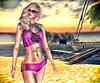 Sabrymoon wearing FashionNatic Grenia top Veronic shorts and Lucky Night Tattoo Nota Music