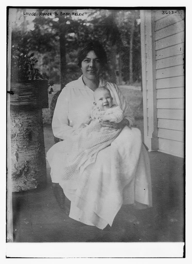 Louise Homer and Baby Helen  (LOC)
