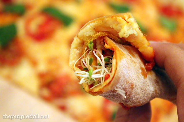 Vegetarian Panizza Rolled