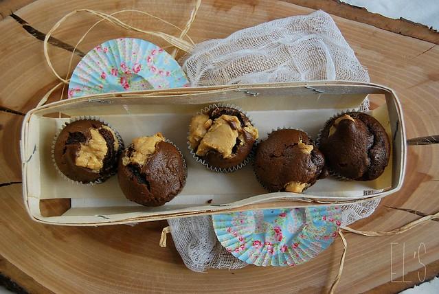 Moelleux au chocolat et beurre de cacahuète