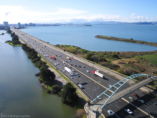 Interstate 80 and the Berkeley Bicycle and Pedestrian Bridge