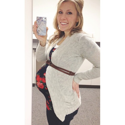 #31weeks #pregnant with #baby3. Grow, little girl grow! I'm exhausted, but looking forward to a Valentine's date tonight. #pregnancy #babysweetsbabybump # #bumpstyle #maternityootd