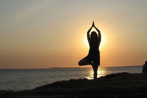 Sunset yoga (Cropped, sourced)