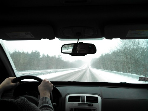 driving home in the snow by shannonakeller
