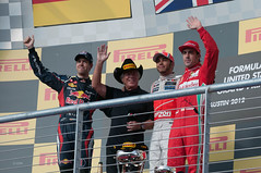 Four World Champions One Podium US F1 GP 2012
