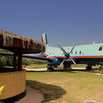 SRI LANKA AIR FORCE HAWKER 748 NOW USED AS A RESTAURANT AT THE CATALINA GRILL KOGGLA AIRFIELD SRI LANKA JAN 2013