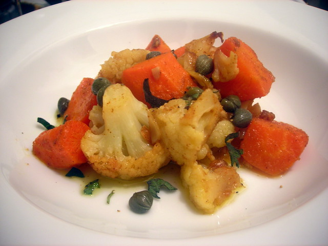 Carrot and cauliflower confit