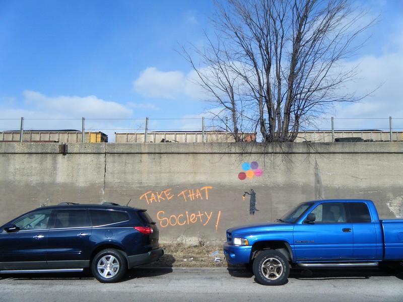 """Take That, Society!"" mural"