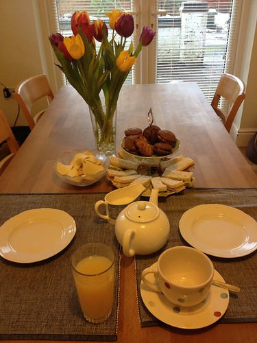 Lovely homemade afternoon tea