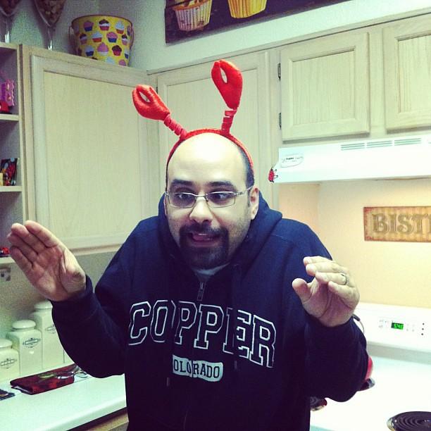 Lol you like the crawfish headband everyone has to wear it!
