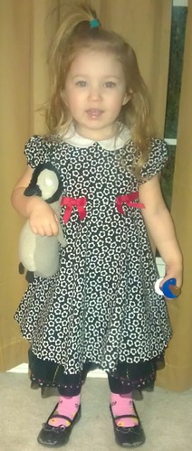 Cecelia and her penguin