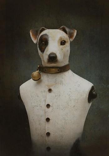 papier-mâché-dog