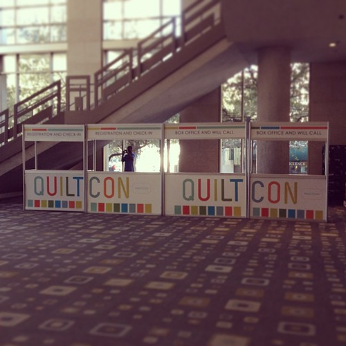 You won't miss the check in desk at #quiltcon !