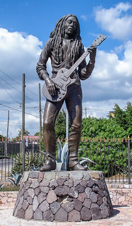 Statue of Bob Marley in Kingston, Jamaica