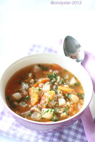 zuppa orzo daikon