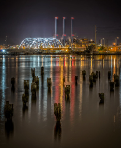India Point at Night by Frank C. Grace (Trig Photography) via I {heart} Rhody