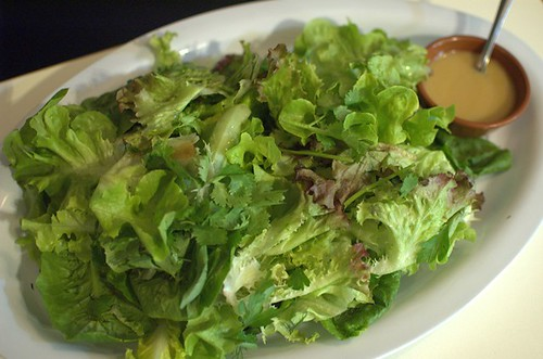 Green salad with fresh herbs