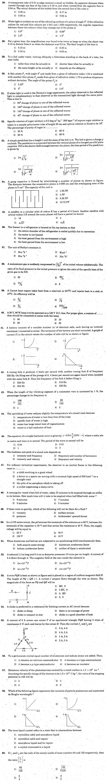 KCET 2006 Question Paper - Physics