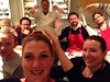 Cooking class is degenerating into madness and lobster hands, I <3 my friends. by Amy Hammond