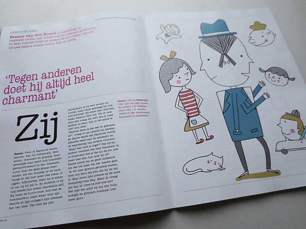 My Illustration for Dutch parenting Magazine Ouders van Nu, Issue #3, 2013