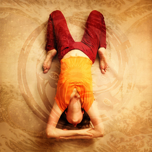 Inspiring Asanas. Floating In Cosmic Dreams