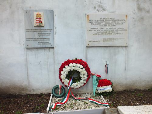1848/1849-es Forradalom és Szabadságharc emlékfala az isztambuli Feriköy (protestáns) temetőben