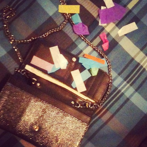 Confettis in my bag